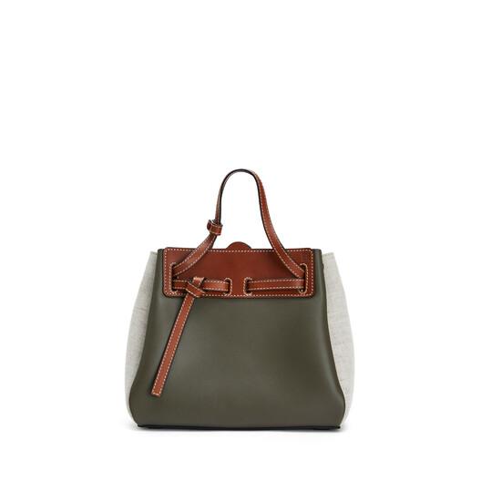LOEWE Lazo Mini Bag Khaki Green/Natural front