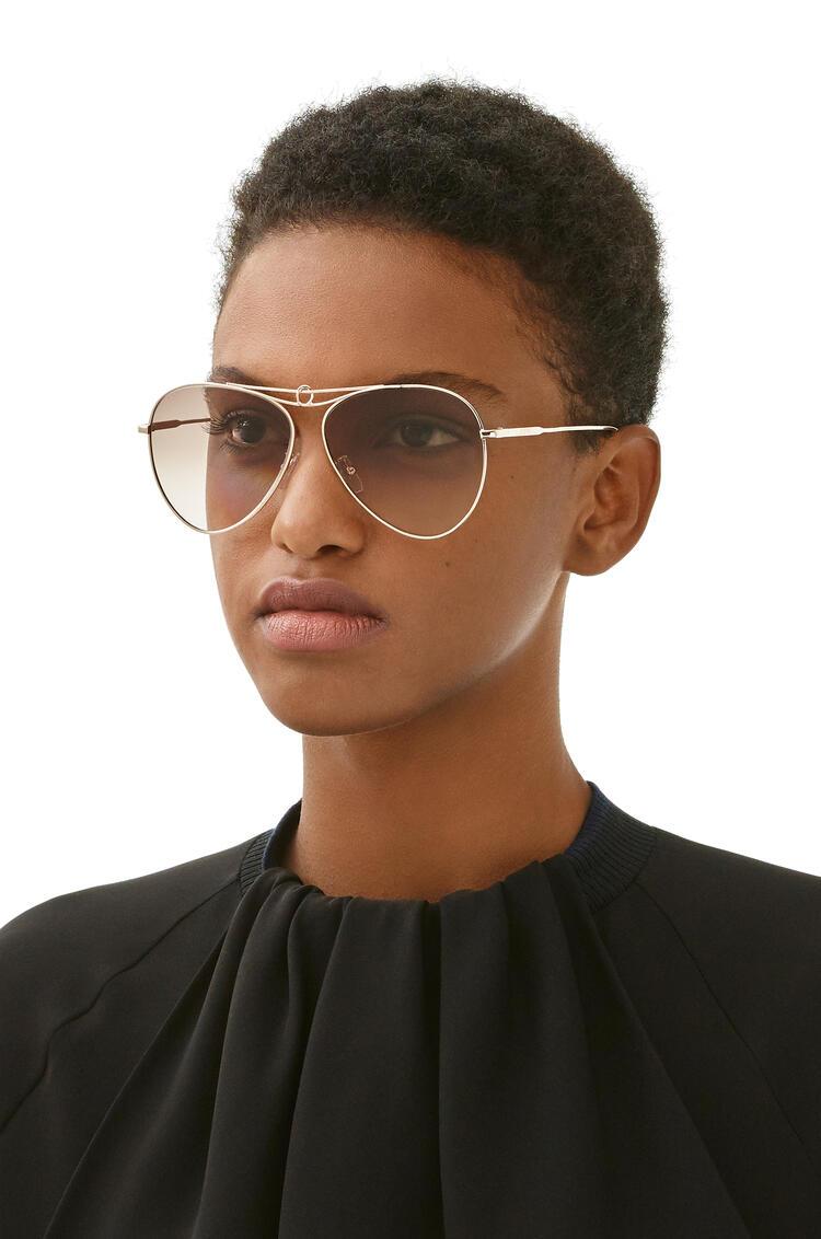 LOEWE Gafas de sol pilot knot Oro Rosa/Marron pdp_rd