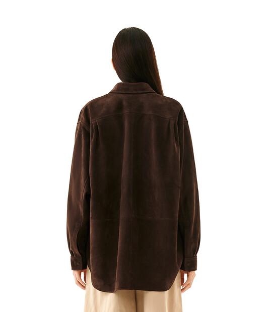 LOEWE Oversize Shirt 檀木黑 front