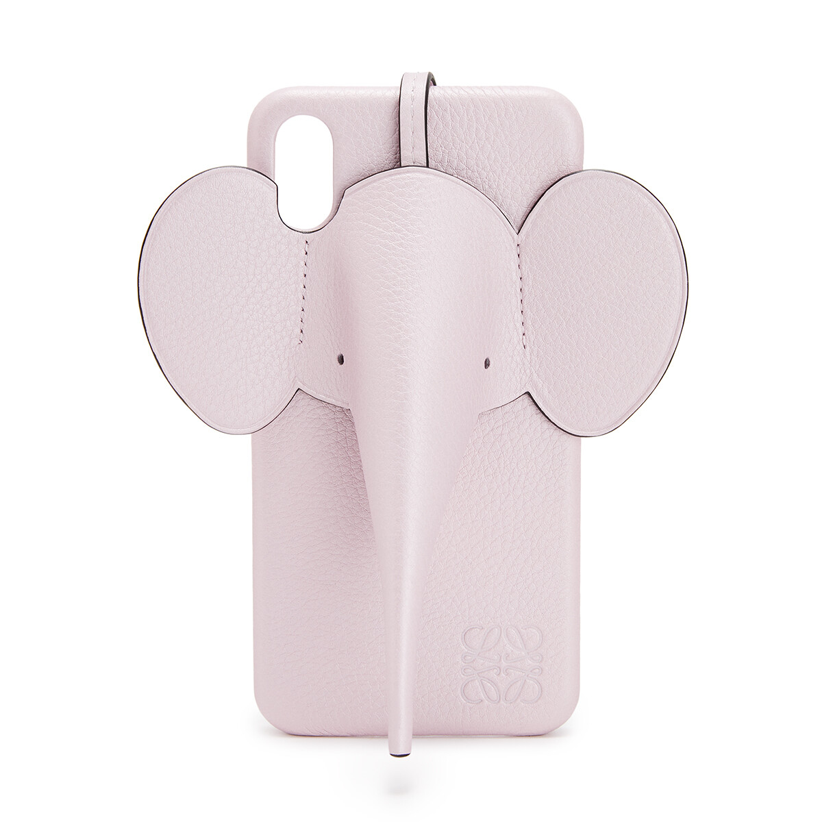 LOEWE iPhone XS Max用 エレファント カバー Icy Pink front