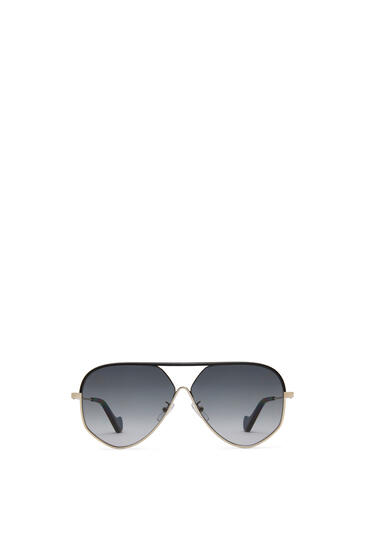 LOEWE PILOT LEATHER SUNGLASSES Black/Gold/Grey pdp_rd