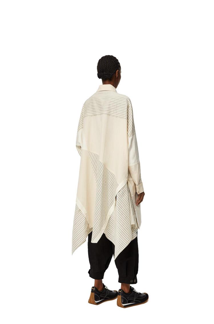 LOEWE Vestido oversize en patchwork de algodón a rayas Ecru pdp_rd