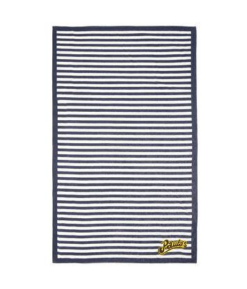 LOEWE 105X170 Paula Stripe Towel ホワイト/ネイビーブルー front