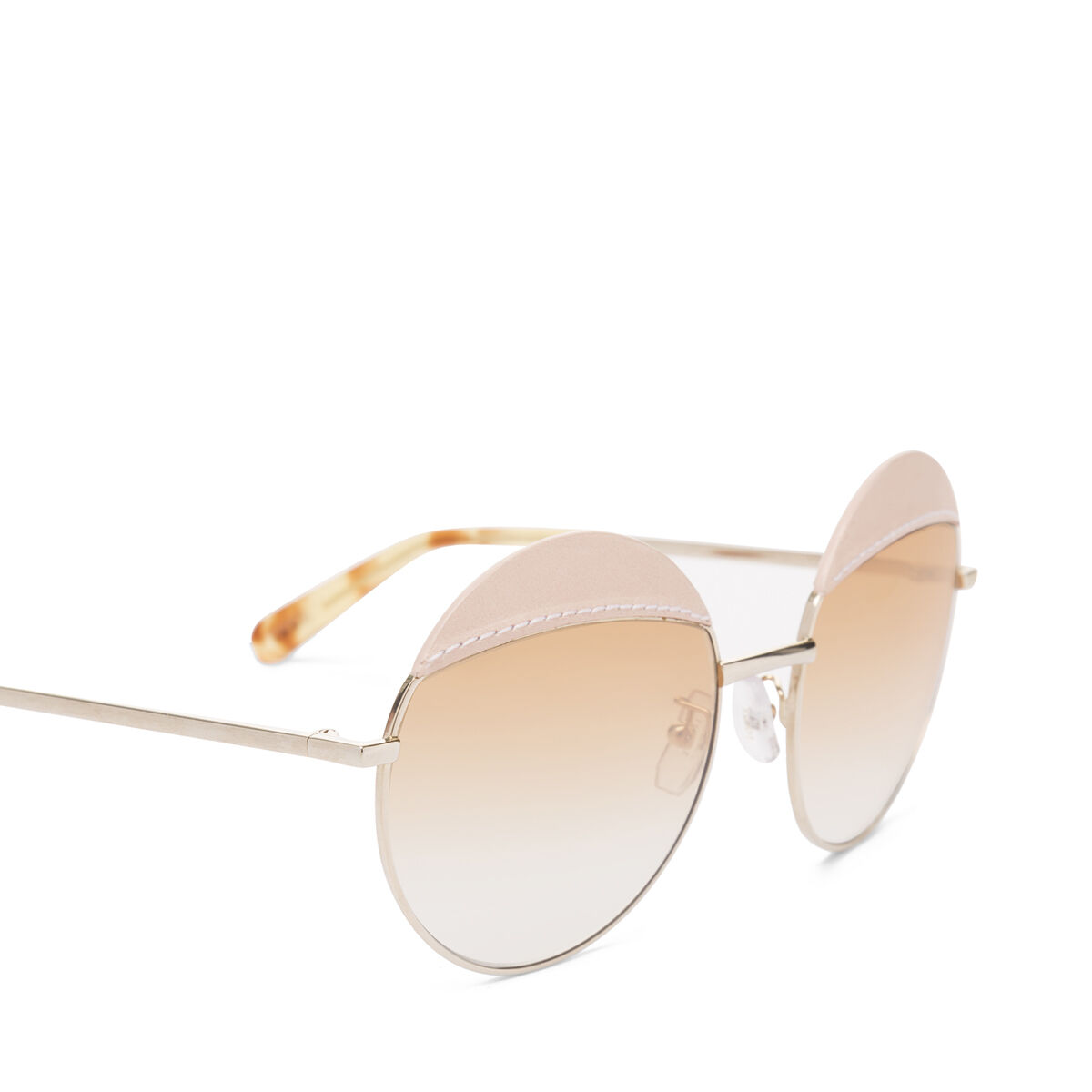 LOEWE Round Sticth Sunglasses Pink/Gradient Yellow front