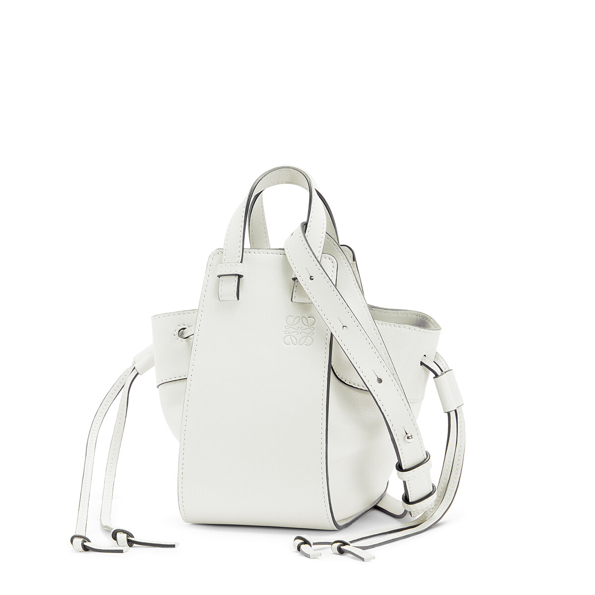 LOEWE Hammock Drawstring Mini Bag Soft White front