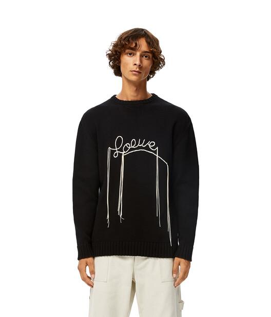 LOEWE Loewe Stitch Sweater 黑色/淡褐色 front