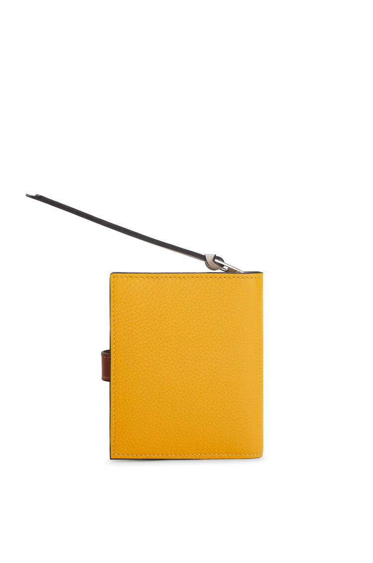 LOEWE Compact zip wallet in soft grained calfskin Narcisus Yellow/Pecan pdp_rd
