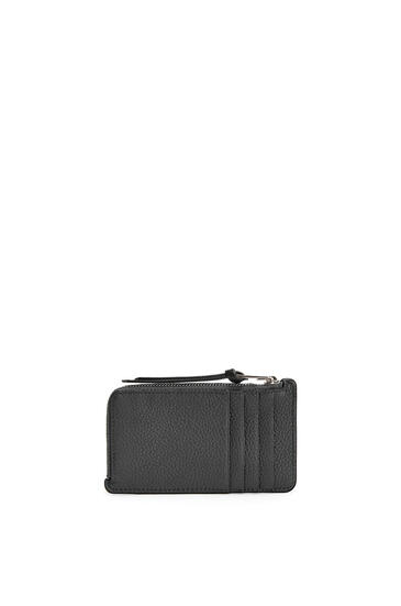 LOEWE Coin Cardholder In Soft Grained Calfskin Black pdp_rd
