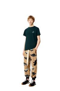 LOEWE Camiseta en algodón con Anagrama Verde Bosque pdp_rd
