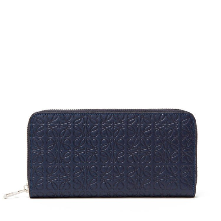 LOEWE Zip around wallet in calfskin Navy Blue pdp_rd