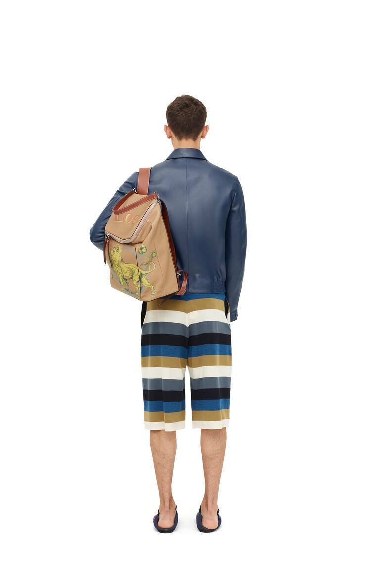 LOEWE Reversible zip blouson in nappa Navy Blue pdp_rd