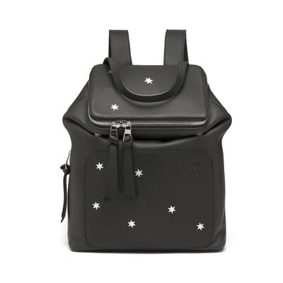 LOEWE Goya Stars Small Backpack Black/Silver front