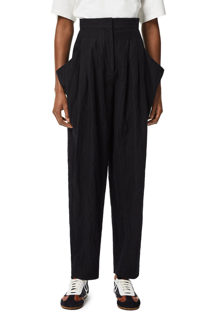 LOEWE Side pocket trousers in wool and cotton Black pdp_rd