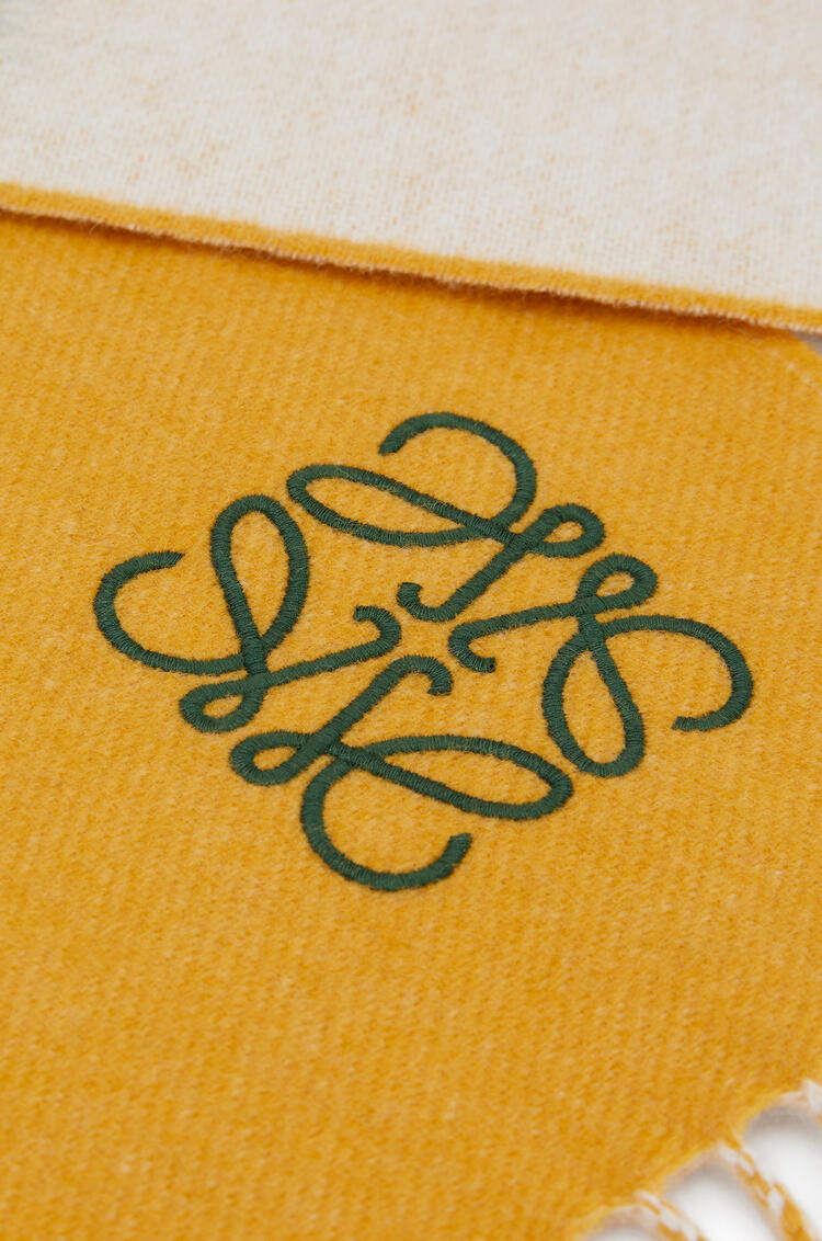 LOEWE Window scarf in wool and cashmere Yellow/White pdp_rd