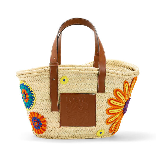 LOEWE Basket Flowers Bag Natural/Tan front