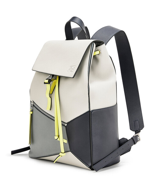 LOEWE Puzzle Backpack Grey/Yellow front
