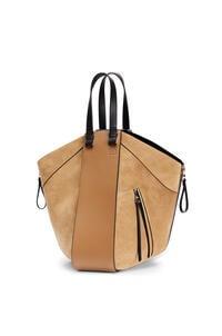 LOEWE Hammock tote bag in calfskin and suede Oak/Dark Gold pdp_rd