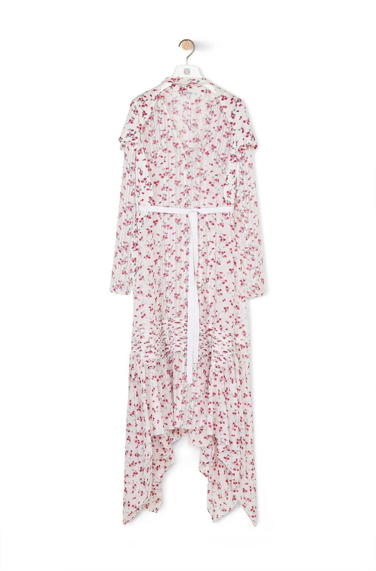 LOEWE Flower Print Dress White/Pink front
