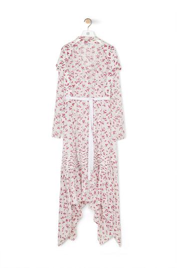 LOEWE 印花连衣裙 白色/粉色 front