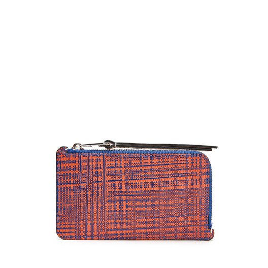 LOEWE Coin Cardholder Large Electric Blue/Orange front