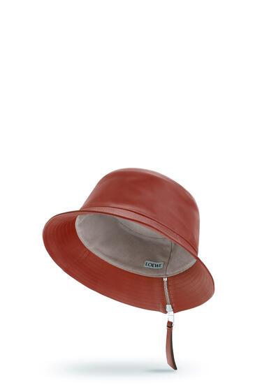 LOEWE 纳帕牛皮革渔夫帽 Burnt Red pdp_rd