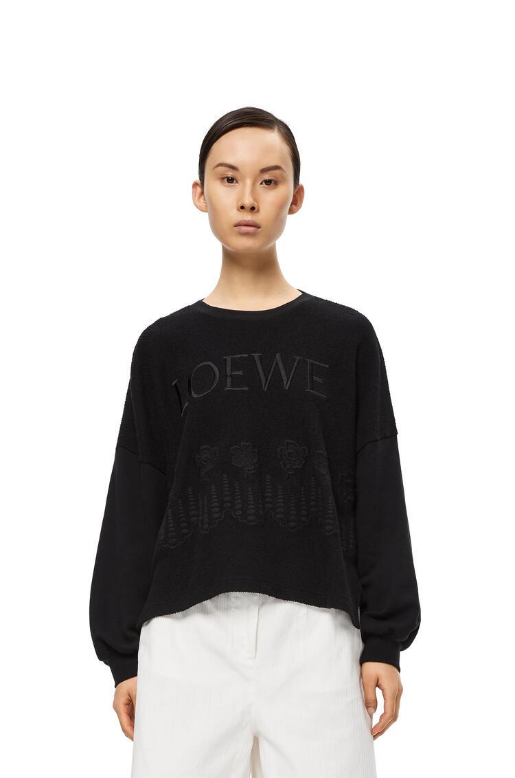 LOEWE Embroidered Sweatshirt In Cotton Black pdp_rd