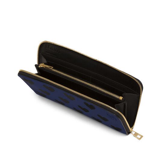 LOEWE Billetero C/C Corazones Azul Royal/Negro all