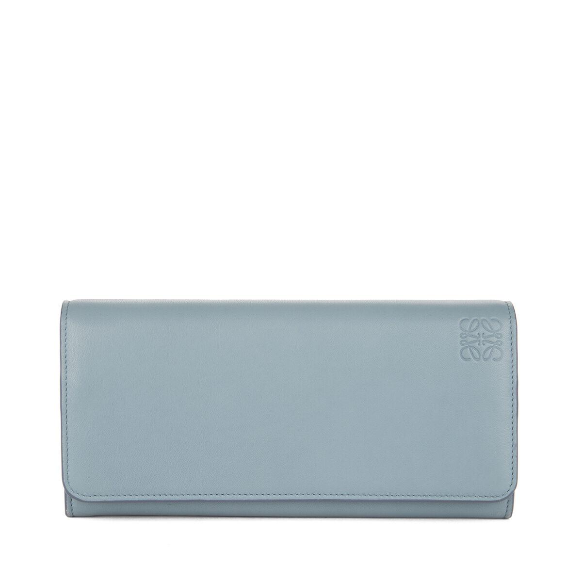 LOEWE Billetero Continental Azul Piedra/Marfil front