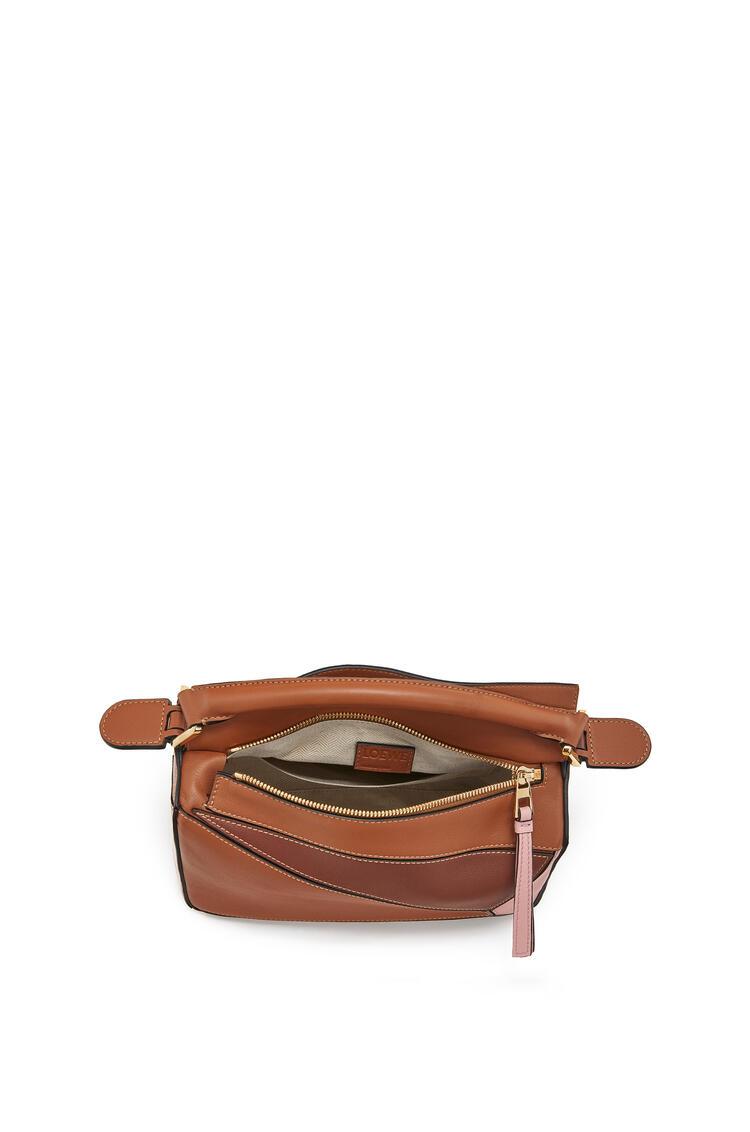 LOEWE Small Puzzle Bag In Classic Calfskin Tan/Medium Pink pdp_rd