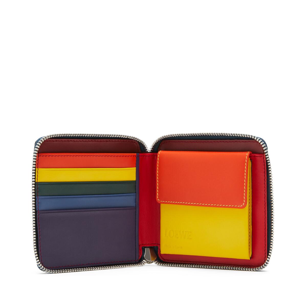 LOEWE Rainbow Square Zip Wallet blue/multicolour front