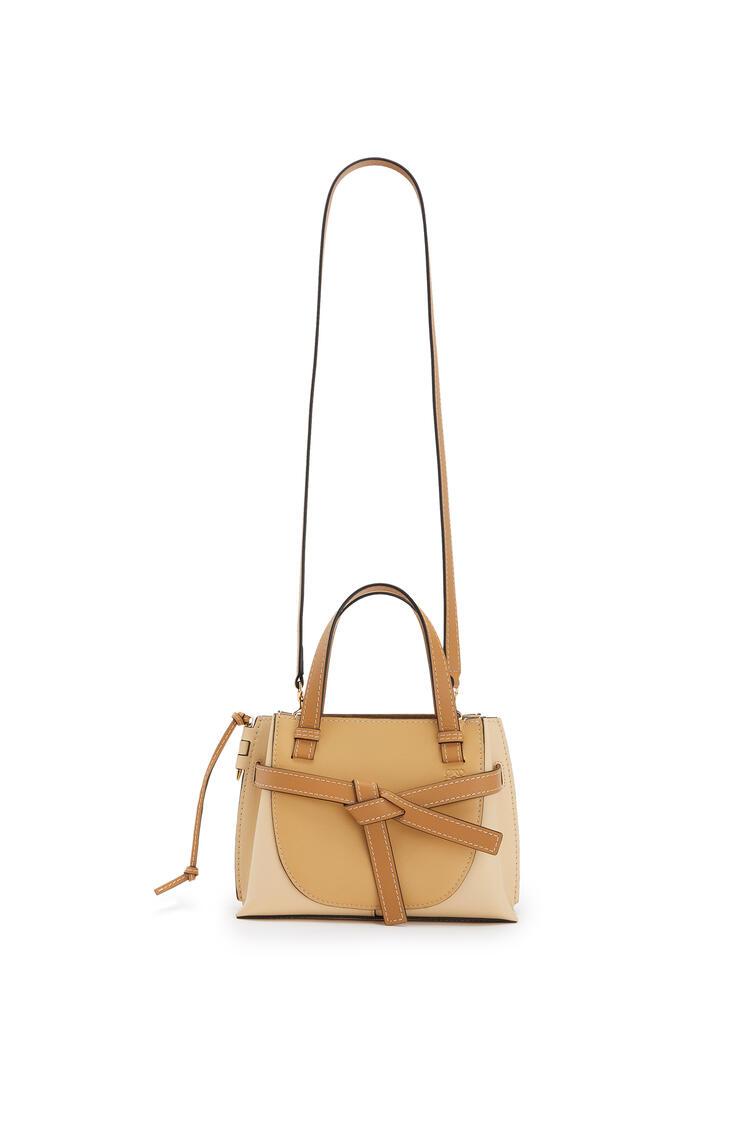 LOEWE Mini Gate Top Handle Bag In Natural Calfskin Dune/Vanilla pdp_rd