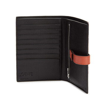 LOEWE Medium Vertical Wallet Wine/Burnt Orange  front
