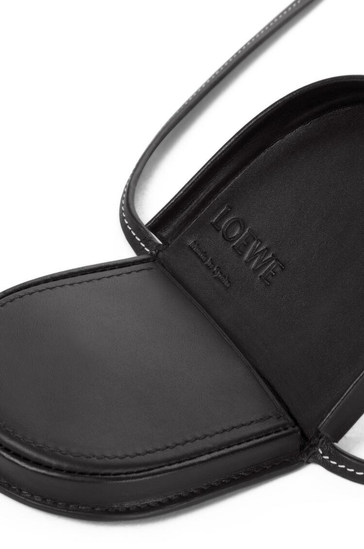 LOEWE Mini Heel Pouch In Soft Calfskin Black pdp_rd