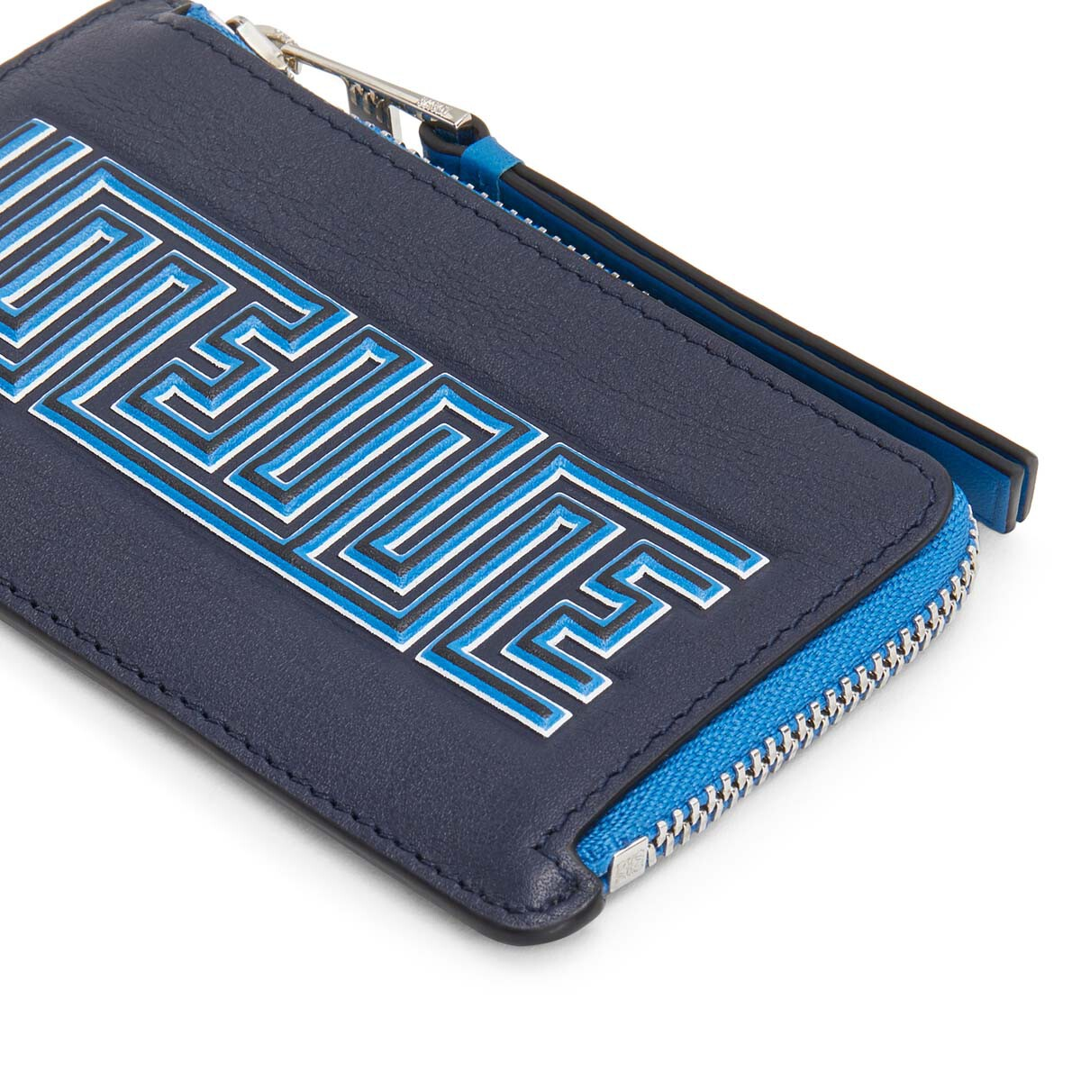 LOEWE メイズコイン/カードホルダー Midnight Blue/Fluo Blue front