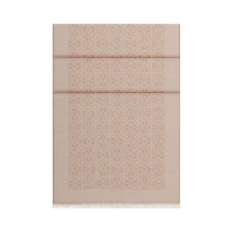 LOEWE 50X180 Scarf Monogram 驼色 front