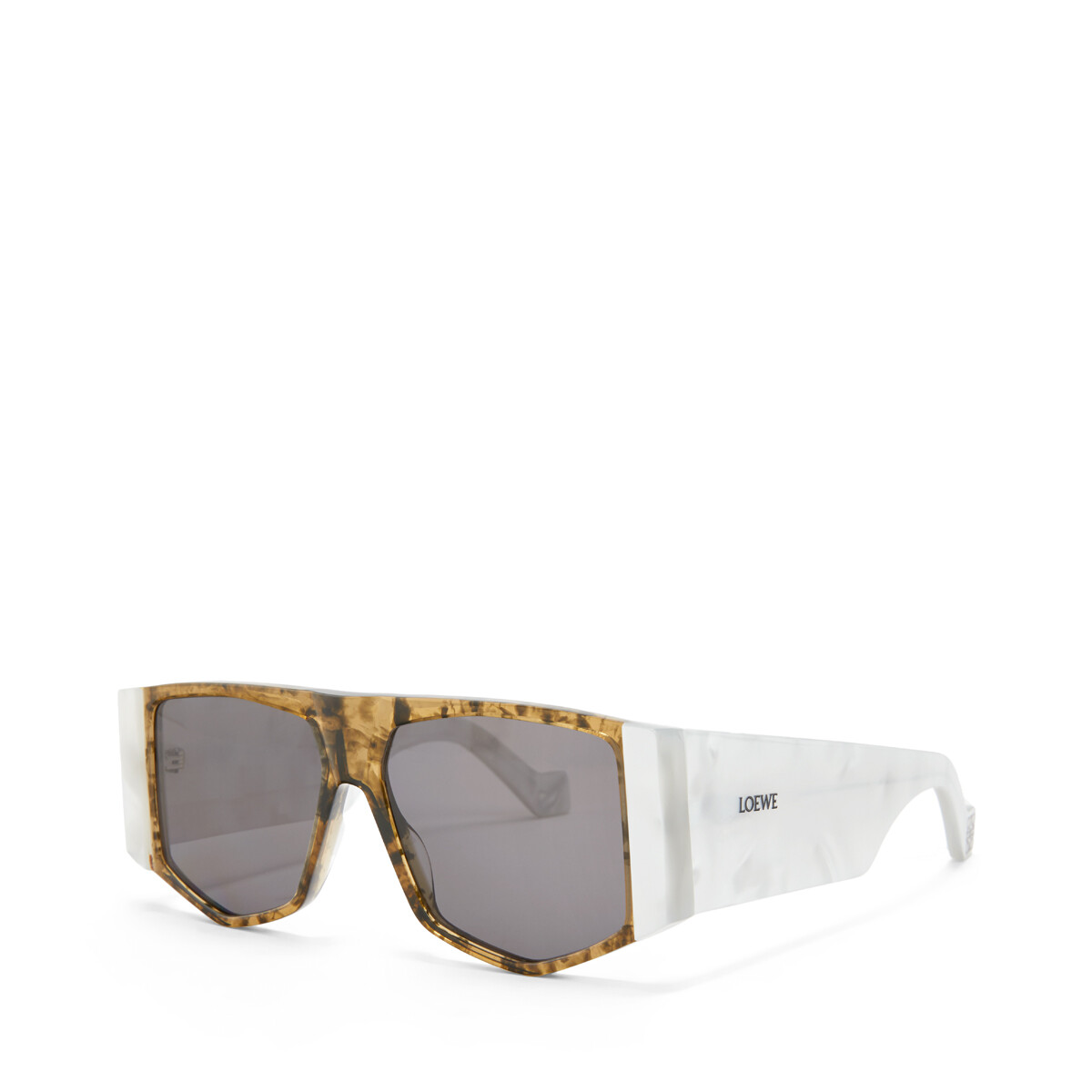 LOEWE Acetate Mask Sunglasses White/Smoke front