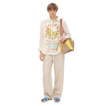 LOEWE Pyjama Trousers Beige front