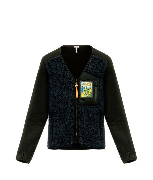LOEWE Fleece Jacket 蓝色 front