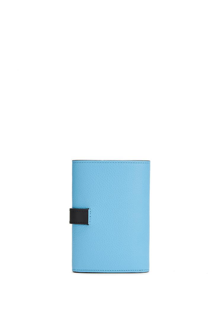 LOEWE Small vertical wallet in soft grained calfskin Sky-blue/Black pdp_rd