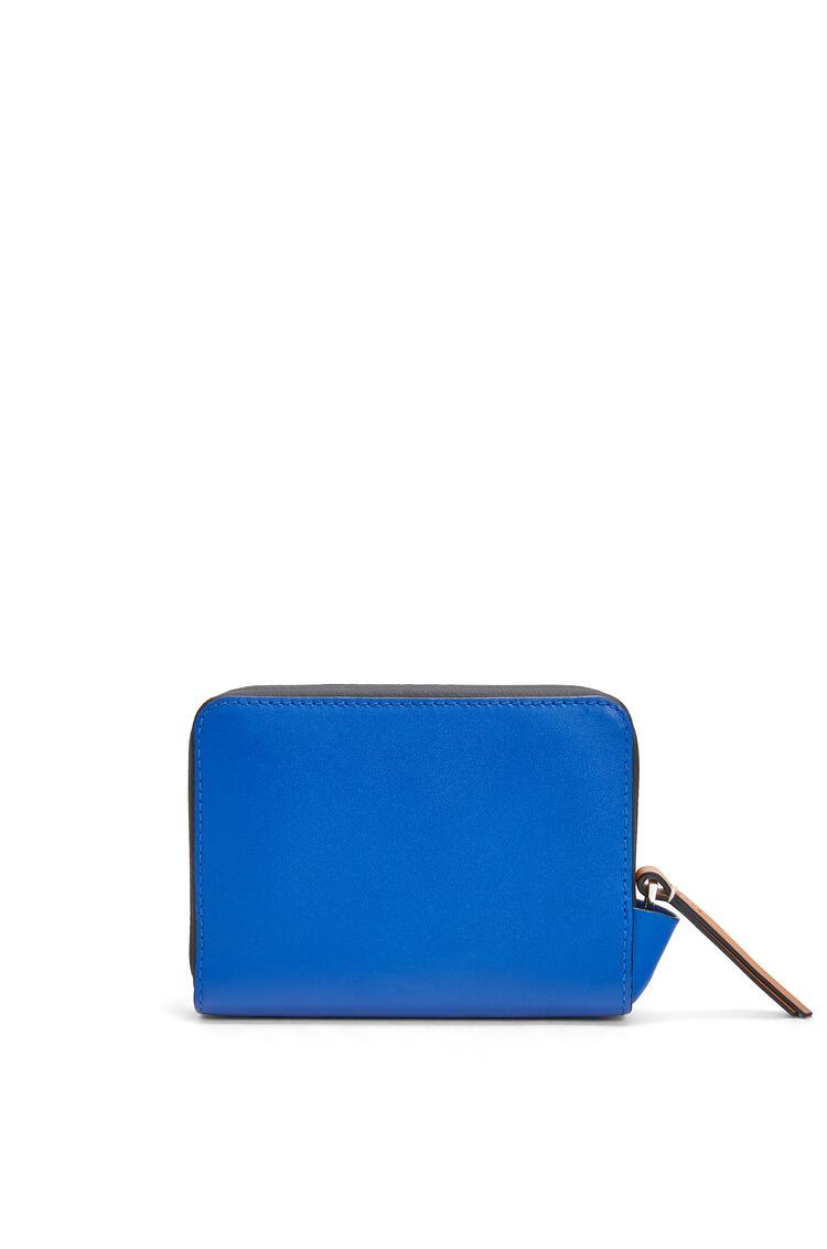 LOEWE 6 Card Zip Wallet In Soft Calfskin Electric Blue/Orange pdp_rd