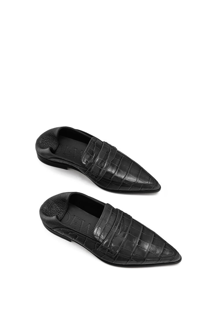 LOEWE Pointy Slip On Loafer In Calfskin Black/Black pdp_rd
