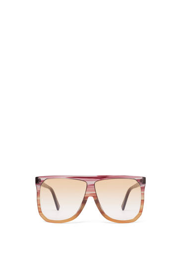 LOEWE Filipa Sunglasses in acetate Plum/Orange/Gradient Yelow pdp_rd