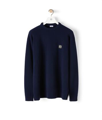 LOEWE Anagram Sweater ネイビーブルー front