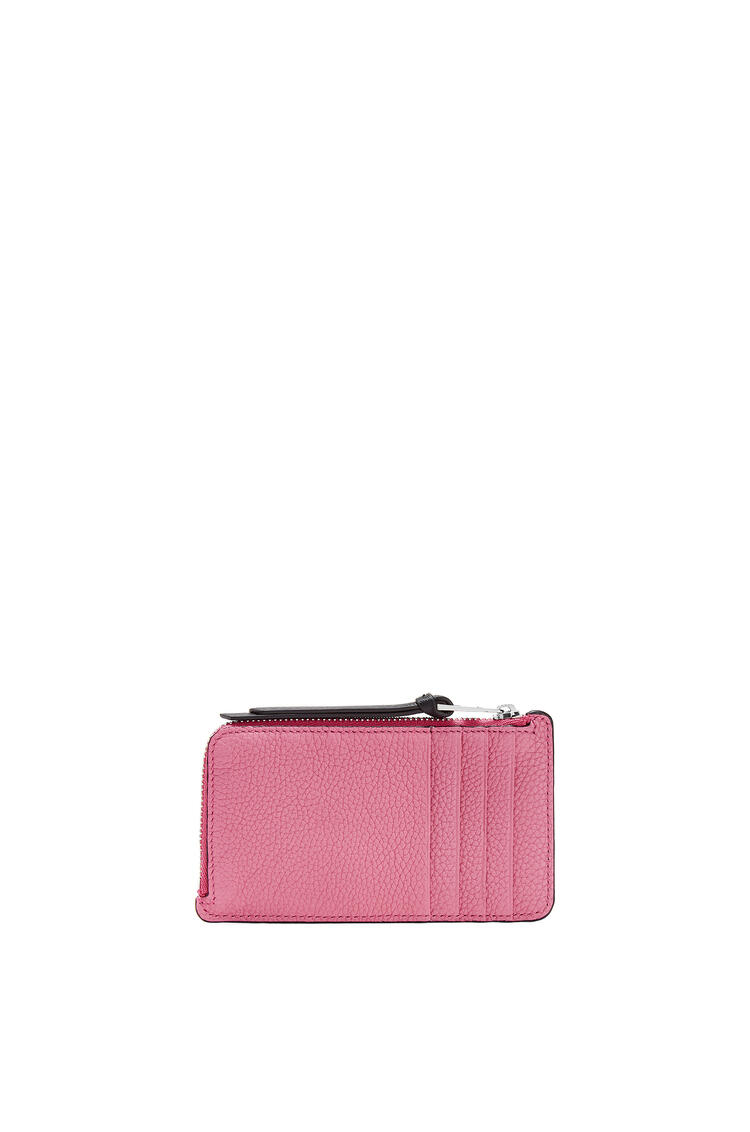 LOEWE Coin Cardholder In Soft Grained Calfskin Wild Rose/Raspberry pdp_rd