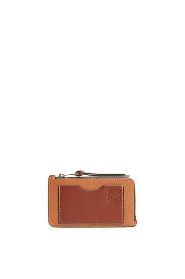 LOEWE 对比色硬币卡包 Light Caramel/Pecan pdp_rd