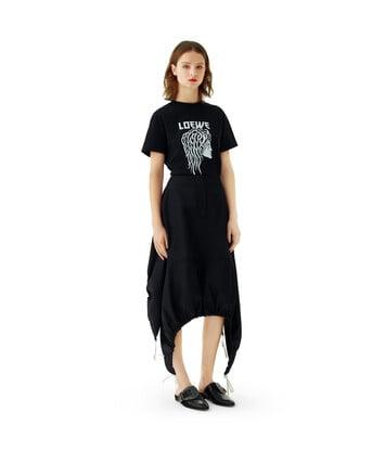 LOEWE Nylon Drawstring Skirt 黑色 front