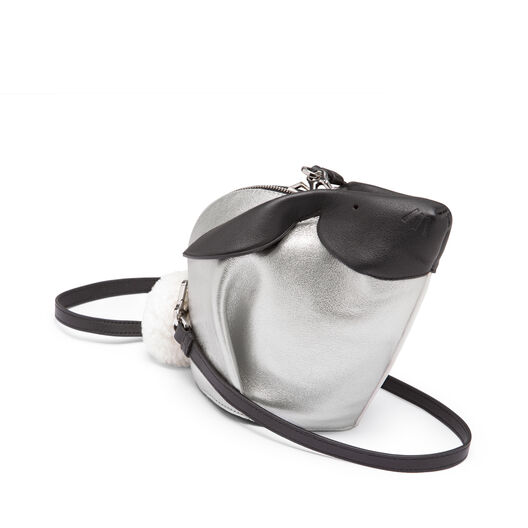 LOEWE Bunny Bicolor Mini Bag White/Silver front