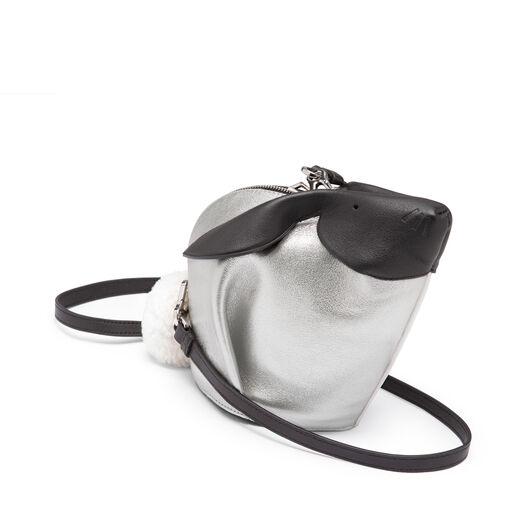 LOEWE Mini Bolso Conejo Bicolor Blanco/Plata all