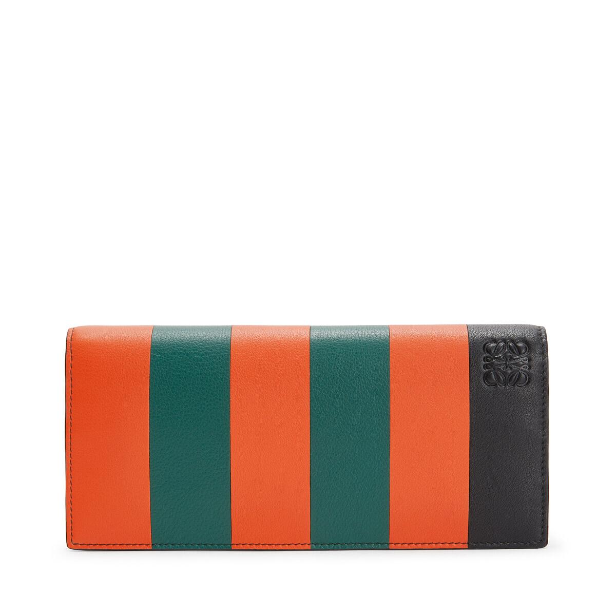 LOEWE Cartera Horizontal Stripes Naranja/Verde front