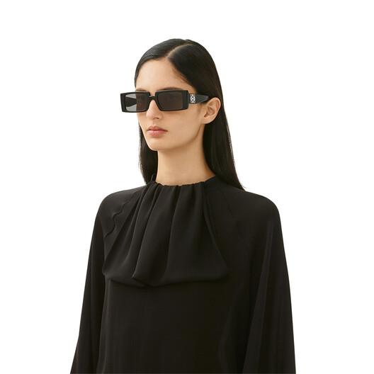 LOEWE Anagram Rectangular Sunglasses Black/Smoke front